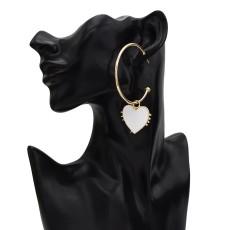 E-5649 Love Drop Heart Hoop Earrings Women Girl Gold Hoop Stud Earring