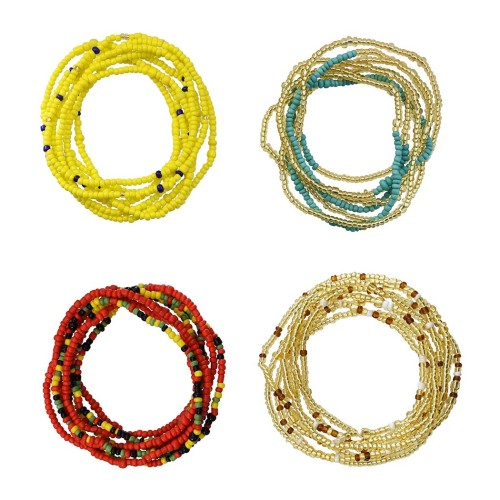 N-7330 8 Pieces Set Multi-Layer Chain Beaded  Waist Chain Color Dance Chain for Women Jewelry Design