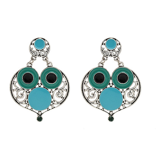 E-5651 2020 Hollow Out Owl Earring Retro Style New Earring Design Gold Silver Fashion Jewelry