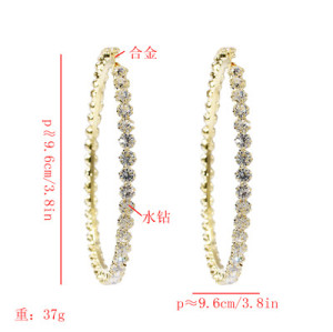 E-5657 Fashion Simple Temperament Big Round Ear Hook for Woman