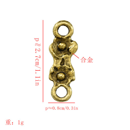 N-7335 20,50pcs/lot Gold Geometry with Flower Accessory For DIY Extender Chain Pendant Jewelry Accessory