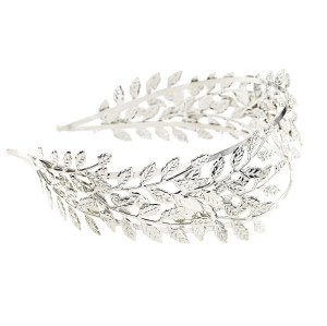 F-0557 Fashion Hairband Leaf Alloy Double Layer Leaves Hair Accessories Bridal Wedding Accessories Gift