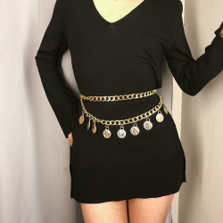 N-7220 *   Belly Waist Chain Metal Waist Chain Body Summer Beach Jewelry for Women and Girls