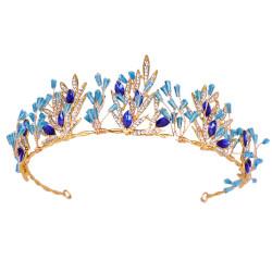F-0644* Trend Golden ladies Hair Band with Acrylic Rhinestone Bridal Headdress Wedding Hair Accessories