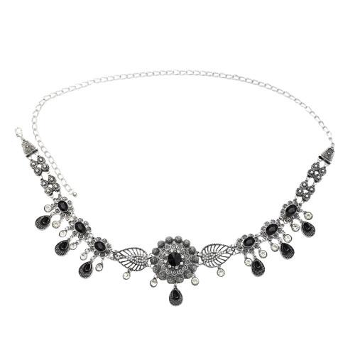 N-7229*New trend alloy rhinestone waist chain pendant belly dance accessories body chain waist chain