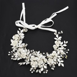 F-0507 * New fashion hand-woven rhinestone flower bride headdress national style popular Sen series super fairy hair accessories hair band