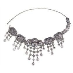 N-5656 * New Trendy Bohemian Silver Alloy Coin Tassel Belly Body Chain Waist For Woman Jewelry