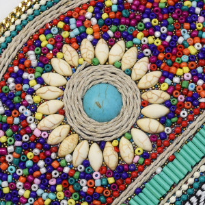 N-7179*New Bohemian retro ethnic style elastic adjustable belt Mizhu dance waist chain women