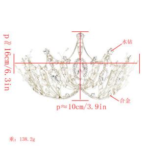 F-0568-G, F-0568-S  Bride Crown Princess Atmospheric Crown Birthday Wedding Hair Accessories
