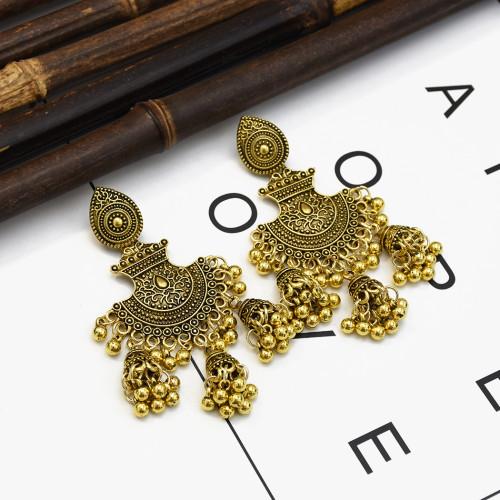 E-5289*  Bohemia vintage tassel earrings long bell pendant earrings women's travel souvenir jewelry
