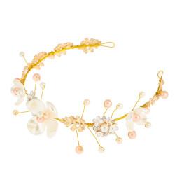 F-0503*New fashion flower bride headdress hand-woven European and American diamond wedding hair accessories
