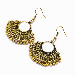 E-4982  Fashion small water drop tassel earrings Thai Indian ethnic retro earrings earrings female