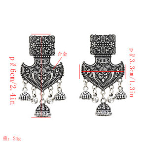 E-5265-G, E-5265-S, Bohemian Vintage  Pendant Earrings for Woman