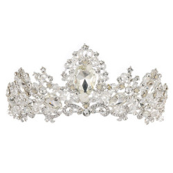 F-0546 Fashionable High-end Queen Baroque Crown Birthday Party Headdress