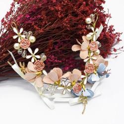 F-0610 Fashion new flower bow bride headdress wedding photography hand-woven hair accessories hair band