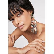 E-4937 Bohemian Bead Tassel Drop Earrings for Women Wedding Fringed Statement Earrings Party Gifts