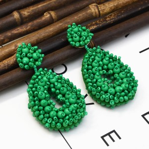 E-5288 * New Trendy Europe and America Exaggerate Colorful Rice Bead Earrings For Woman Jewelry Gift