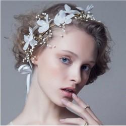 F-0502  Bridal Mori Girl Handmade Silk Gauze Bridal Headdress Wedding Styling Accessories
