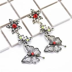 E-4967 New Fashion Retro Butterfly Earrings Ethnic Style Popular Street Shoot Earrings Earrings
