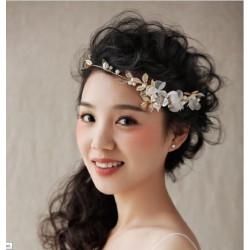 F-0525 Fashion Elegant Pearl Flower Leaf Headbands Bridal Headpiece Crowns Wedding Hair Accessories