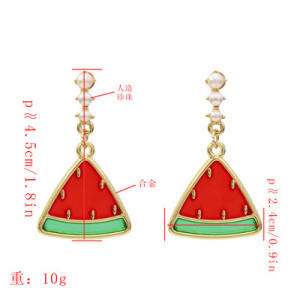 E-5392 New creative fruit earrings temperament 2 color watermelon earrings summer trend earrings