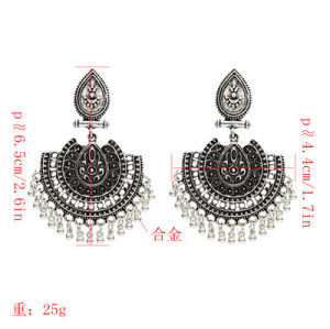 E-5110-G, E-5110-S, Bohemian Vintage Bell Tassel Pendant Earrings for Woman