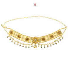 N-7317 Bohemian national style alloy waist chain ladies belly dance jewelry  pendant