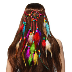 F-0660 * Ethnic Retro Long Feather Hairband Travel Simple Hair Accessory