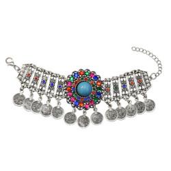 B-0961 * Bohemian Ethnic Fashion Bracelet Color Random Rhinestone Women's Bracelet