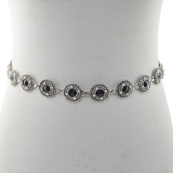 N-6985* Fashion Beauty Coin Tassel Waist Chain Bohemian Vintage Crystal Pearl Waist Ornament