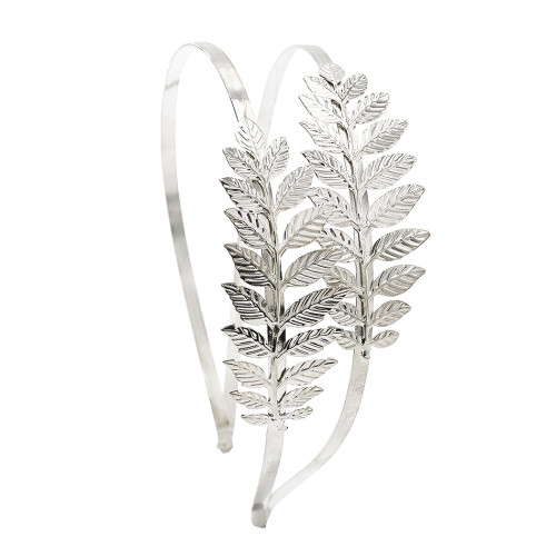 F-0379 Leaf Shape Fashion Hairband Silver Gold Plated Alloy Hair Jewelry Women & Girl Hair Accessories
