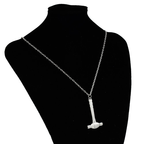 N-7340 New student domineering Axe hammer necklace men's clavicle chain wild Japan and South Korea jewelry gift tide compass long sweater chain