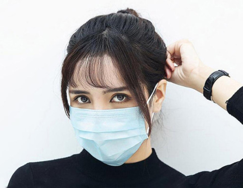 K-0010 Blue Earloop Pleated 3 Ply Disposable Protective Face Mask