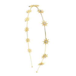 F-0736 Fashion Golden Little Sun Diamond Headband Wedding Hair Accessories