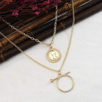 N-7342 3 styles gold long necklace couple accessories Fashion ladies pendant jewelry