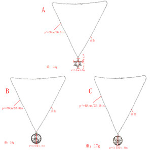 N-7343 Punk student domineering Dragon pentagon necklace men's clavicle chain wild Japan and South Korea jewelry gift long sweater chain