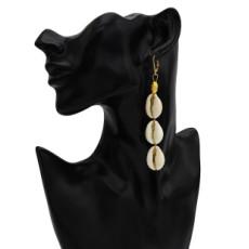 E-5679 Summer Beach Shell Earrings for Women Bohemian Gold Metal Drop Earring Party Jewelry