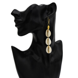 E-5679 Summer Beach Shell Earrings for Women Bohemian Gold Metal Drop Earring Party Jewelry