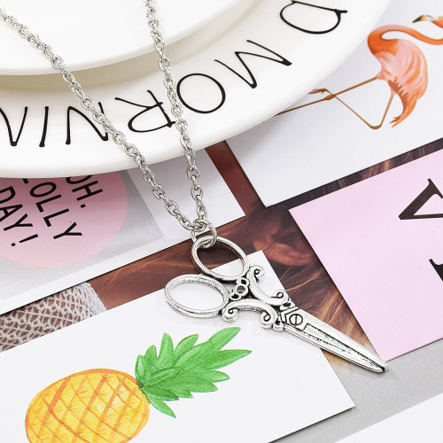 N-7344 Punk Student Retro Silver Necklace Men's Clavicle Chain Wild Japanese Korean Jewelry Gift