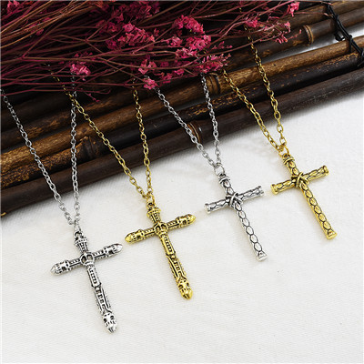N-7345 Fashion New Cross Necklace Clavicle Chain Wild Jewelry Gift