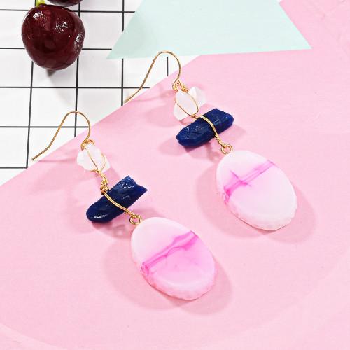 E-5686 Fashion Trendy Color Spar Earrings Women Jewelry Gift Crystal Earrings