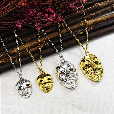 N-7347 Fashion New Domineering Mask Necklace Clavicle Chain Wild Jewelry Gift