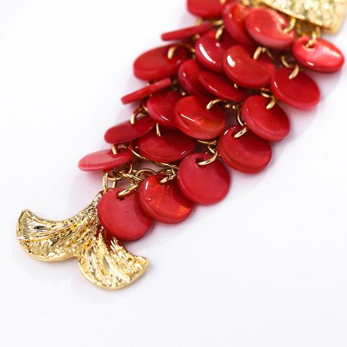 E-5699 3 color Fashion Shiny fish scales shape hoop drop earrings Jewelry