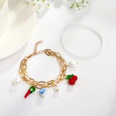 B-1016 Bohemian Style Bead Pearl Shell Adjustable Bracelet Jewelry Accessories