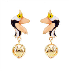 E-5700 Fashion Cute Glazed Bird Animal Earrings