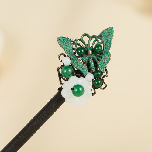 F-0746 Retro hairpin women's national costume costume jewelry hairpin handmade accessories.