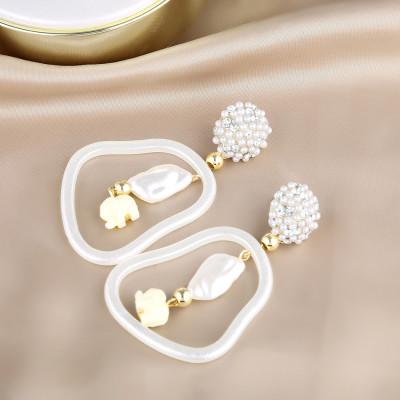 E-5708 Fashion Geometric Diamond Hollow Earrings