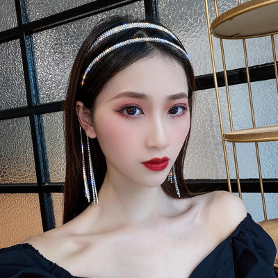 F-0752 New Korean Style Women Crystal Rhinestone Crown Hairbands Girl Party Hair Jewelry Accessories