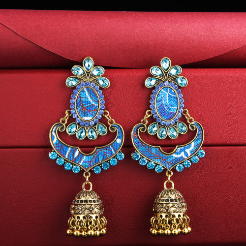 E-5722 Indian Bells Tassel Drop Dangle  Earrings