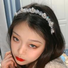 F-0757 New Korean Style White Pearls Hairbands Bride Hair Accessories Headwear Women Wedding Party Jewelry